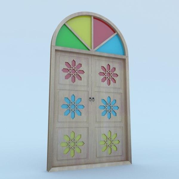 3D traditional moroccan door
