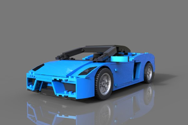 3D sport car lego