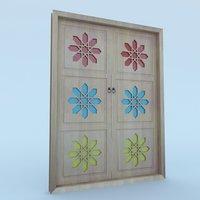 3D model traditional moroccan door