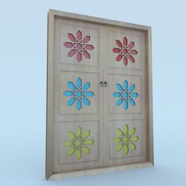 3D model traditional moroccan door