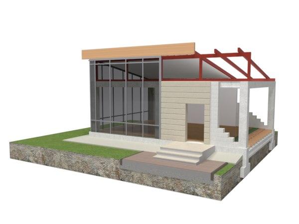 Concrete Frame Construction House