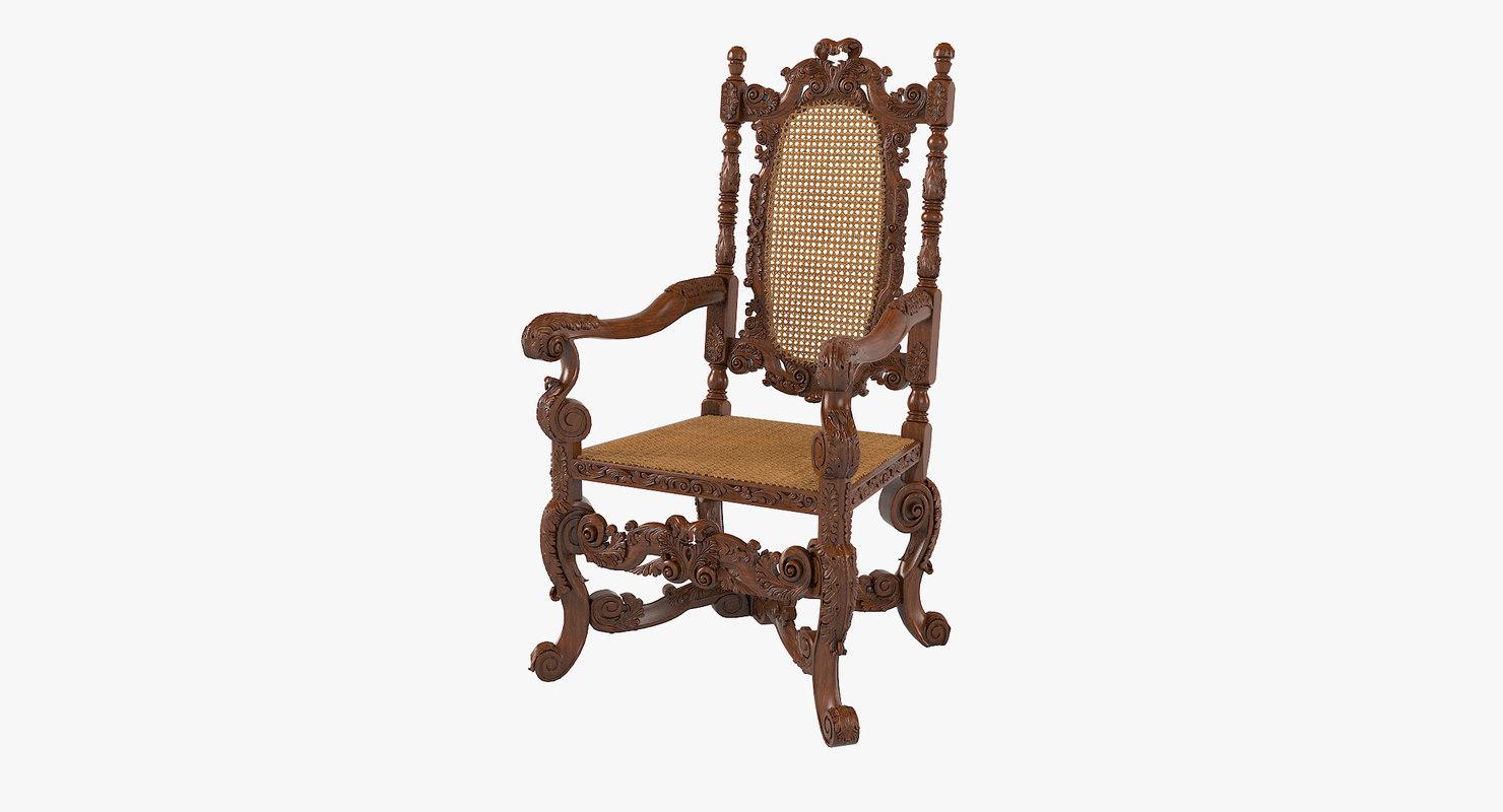 armchair english 1680 model