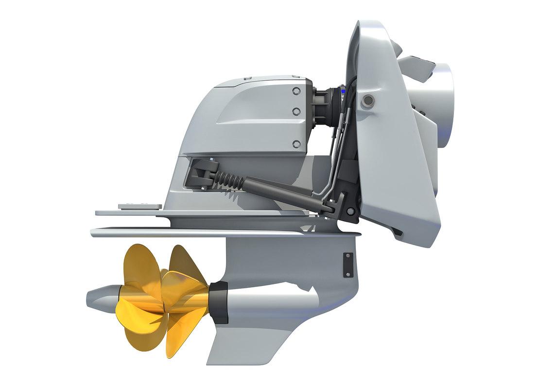 boat engine 3D model