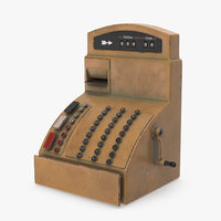 3D cartoon cash register