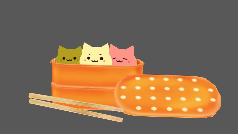 3D cats rigged model