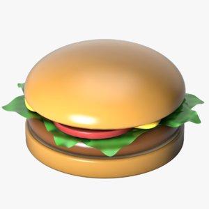 3D toy hamburger