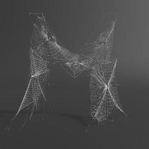web letter m 3D model