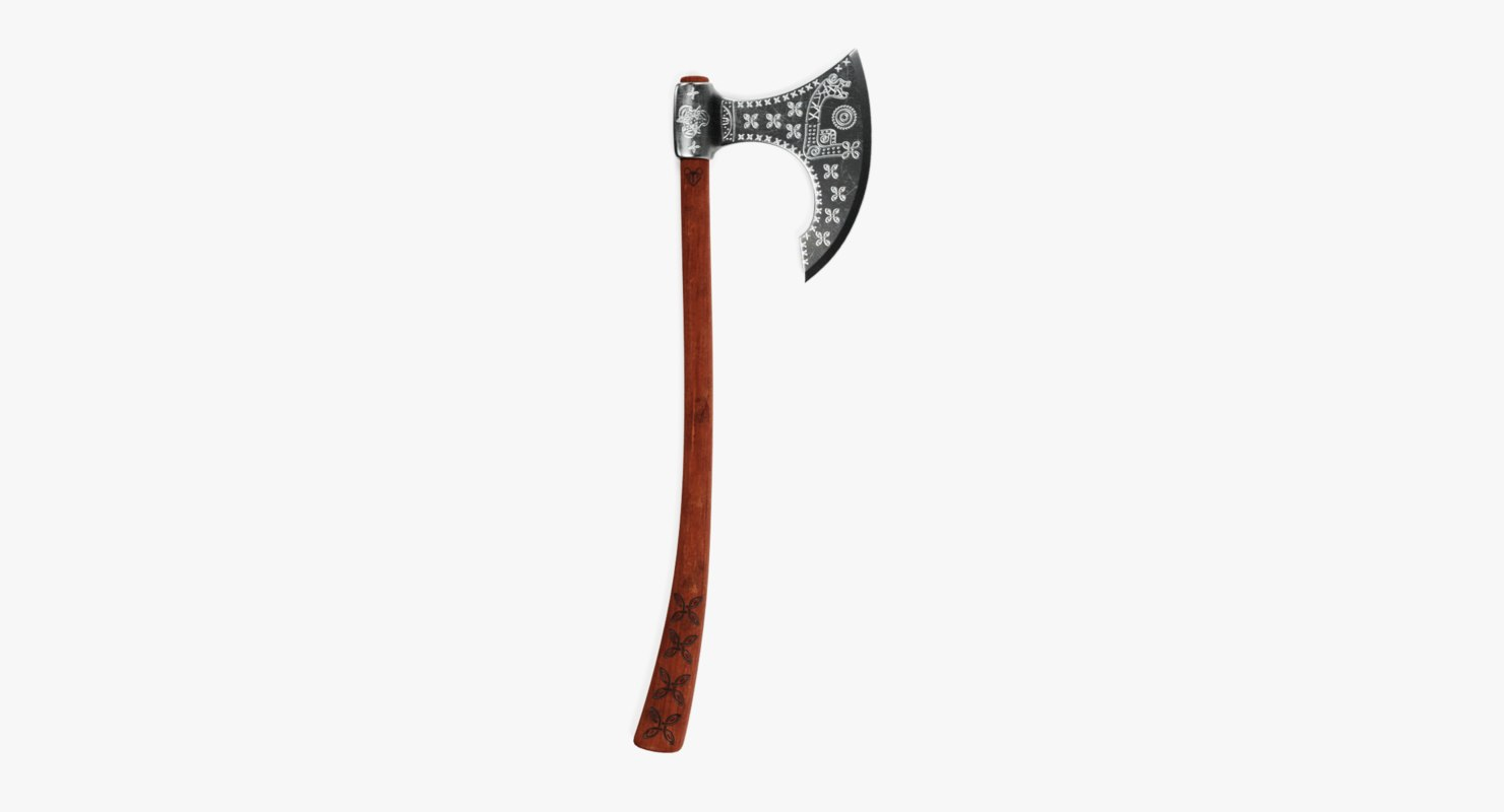 viking axe 1 3D model