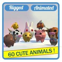 36 animals 3D