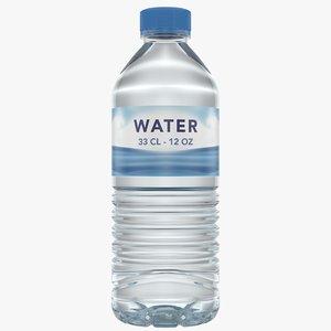 water bottle 33 cl 3D model