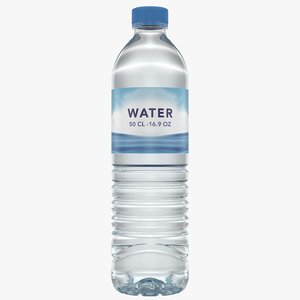 3D water bottle 50 cl model