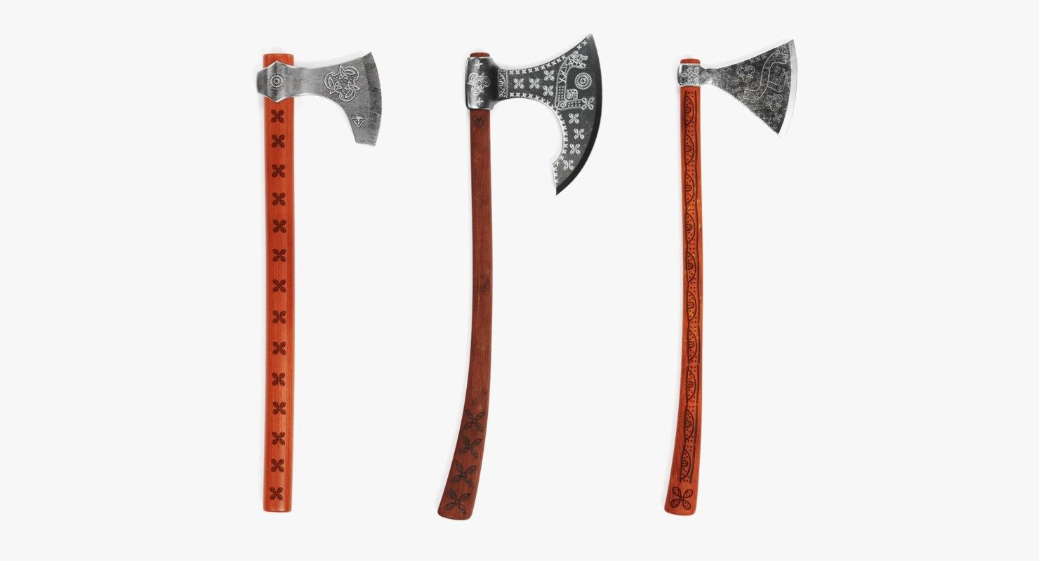 3D viking axes