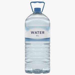 water bottle 5 3D model