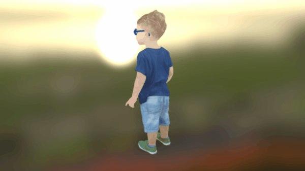 3D kid minion model