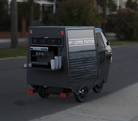 3D piagio ape coffee van