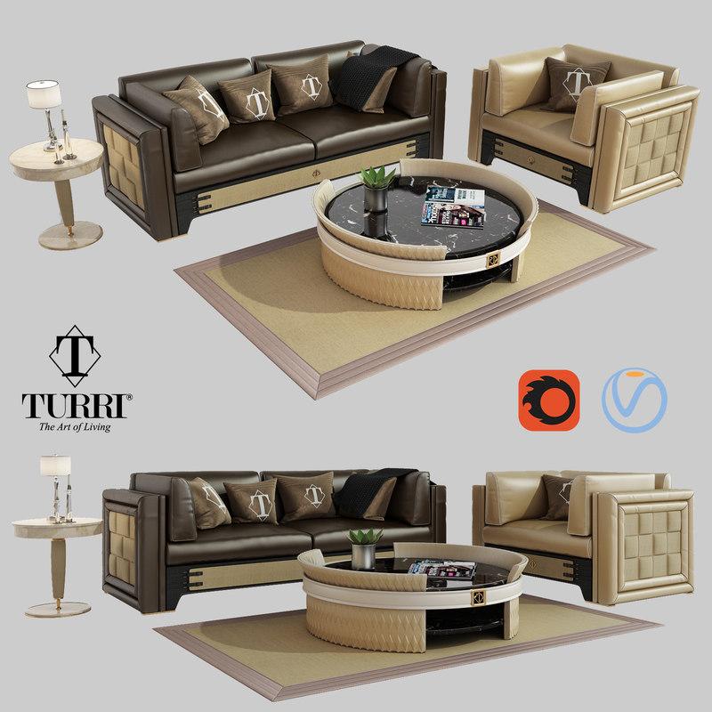 turri numerotre sofa armchair model