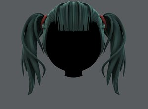 hair style girl v25 3D model