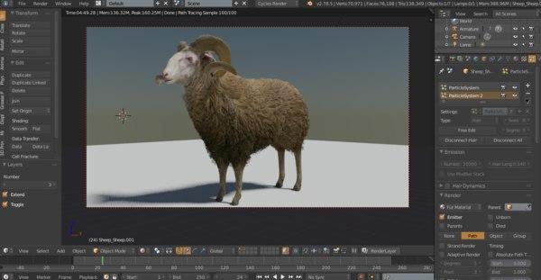 sheep blender 3D model