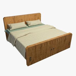 bed wood model