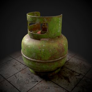 3D gas elpiji lpg