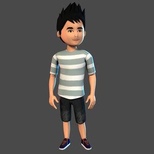 3D boy character model