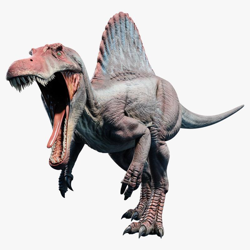 spinosaurus rigged animation 3D model
