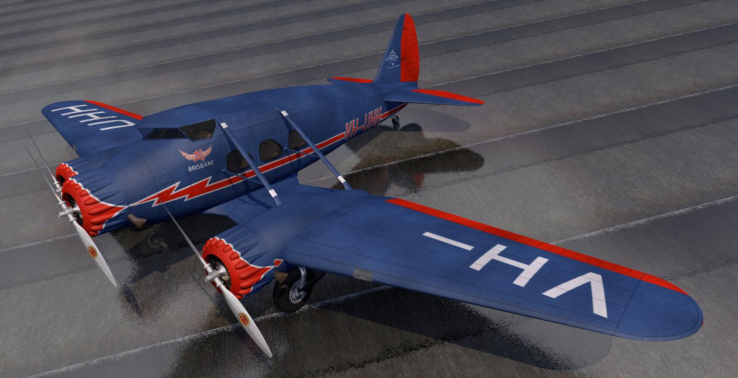 3D plane stinson a1 trimotor