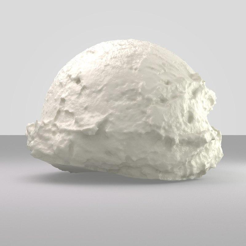 ice cream ball 3D