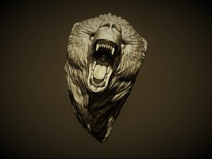 bear grizzly head 3D model