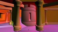 3D castle columns