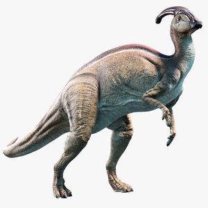 parasaurolophus animation 3D