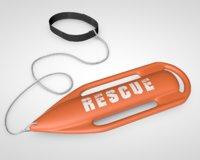 3D life saving torpedo buoy
