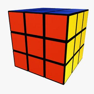 3D model rubiks cube s