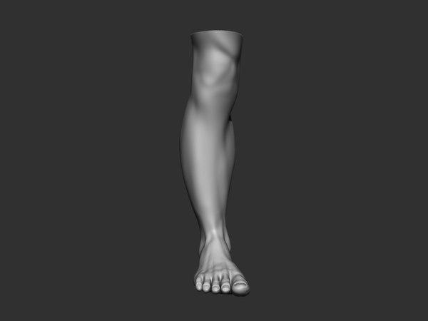 foot man human 3D model