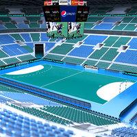 3D handball stadium ball model