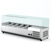 refrigerated saladette 6GN1 / 4 with glass display
