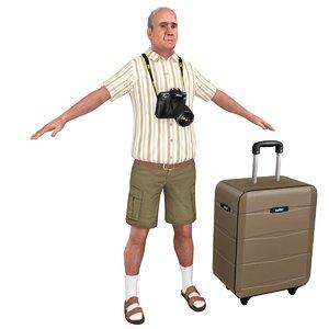 3D model tourist man