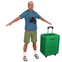 tourist man games 3D model