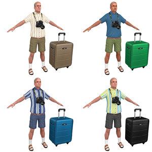 pack tourist man 3D