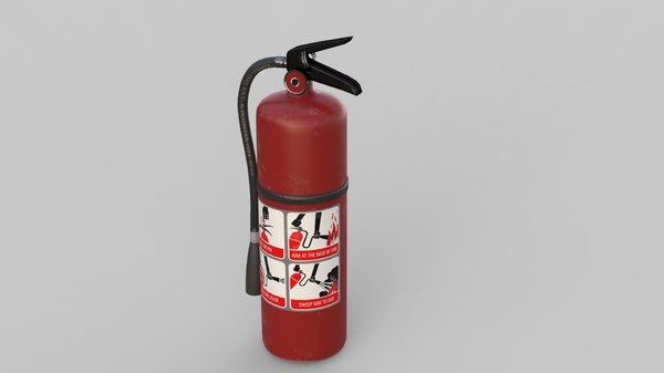 3D extinguisher low-poly