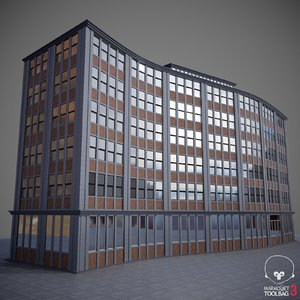 curved building 01 model