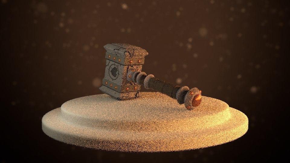 3D doomhammer world warcraft model