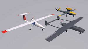 3D uav drone model