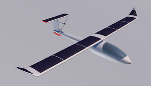 solar powered glider model