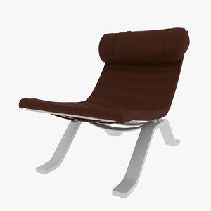 leather armchair chair 3D model