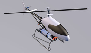 helicopter drone uav 3D