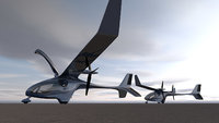 3D electric airplane