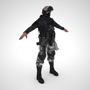 special force soldier model