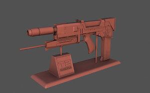 printing t-800 plasma rifle 3D model
