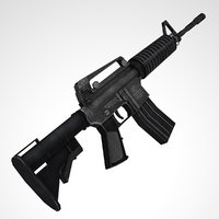 M4 carbine rifle Game Ready